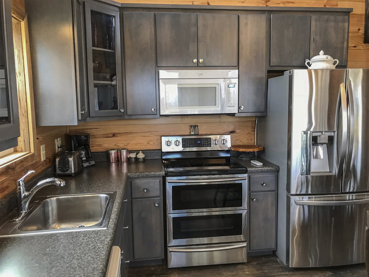 Guest house kitchen at Duck River Airbnb