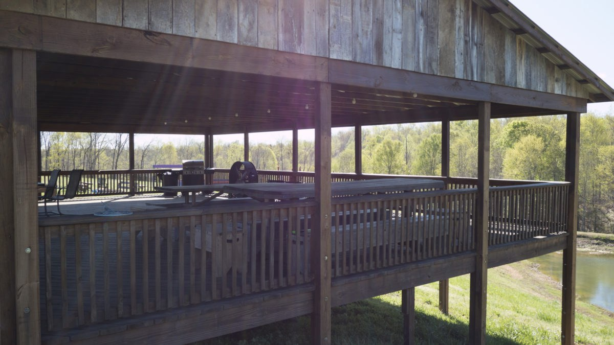 Large Pavilion overlooks our property on Mobley Ridge